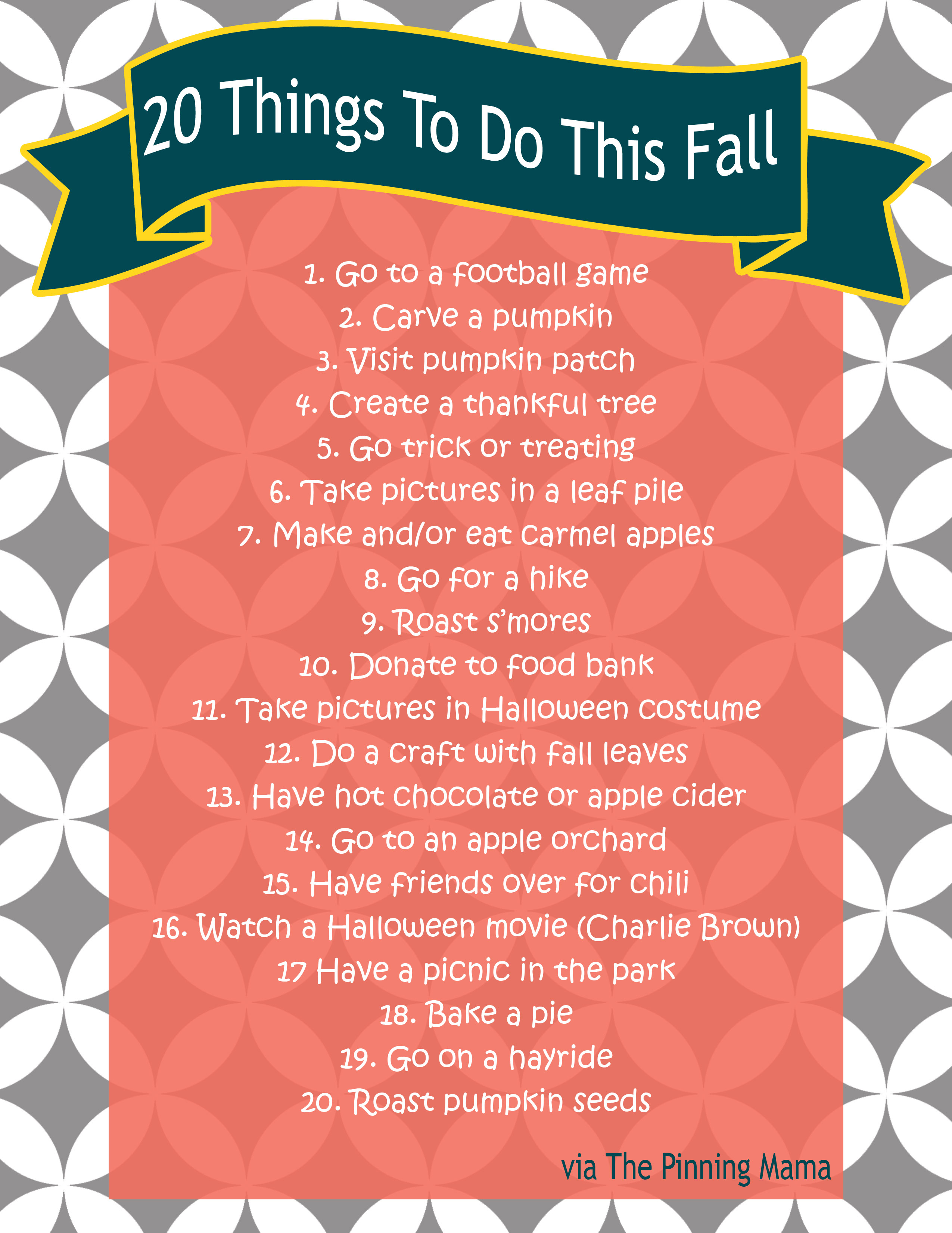 fall bucket list} 20 fall ideas and activities for kids including a