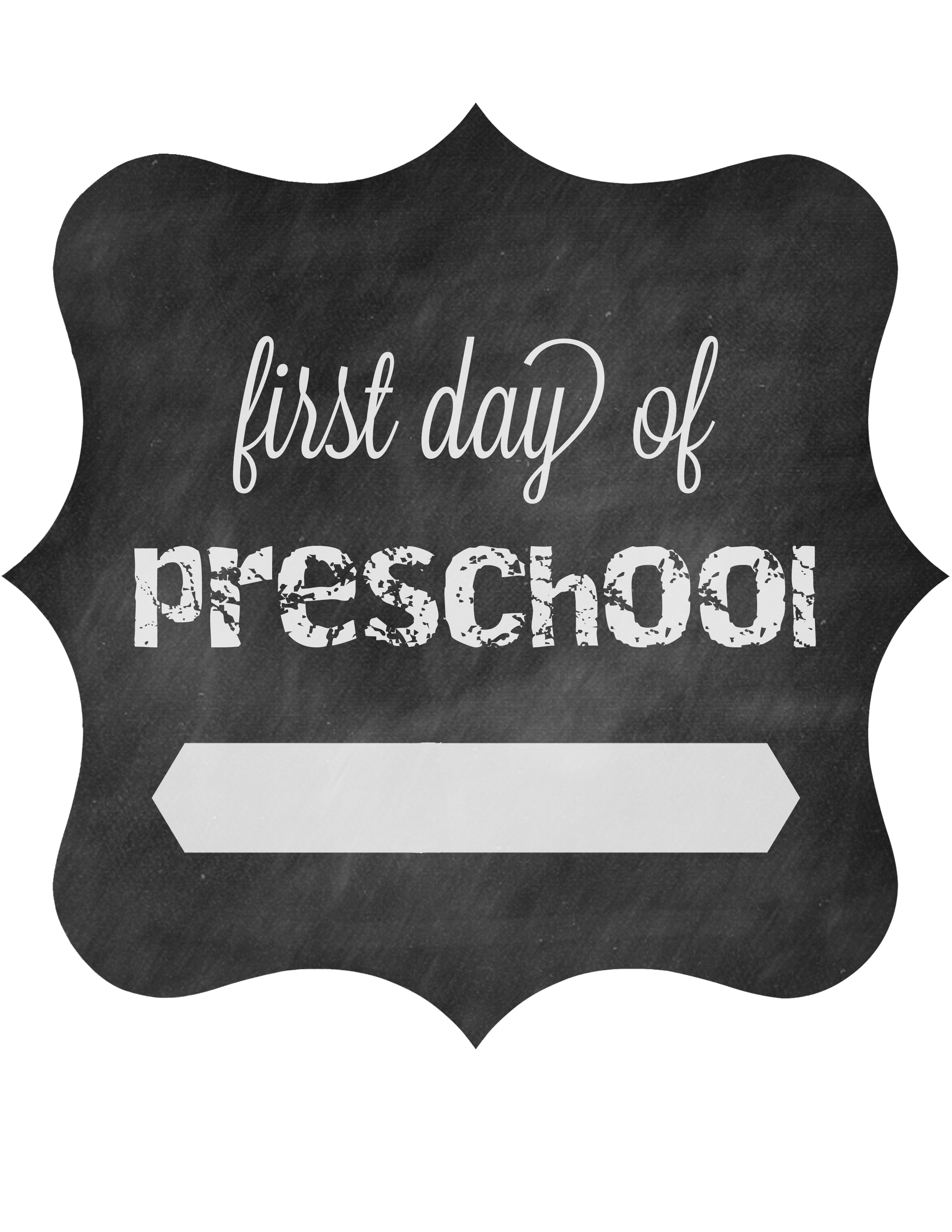 first day of preschool printable day of school printable signs hello dearest 616